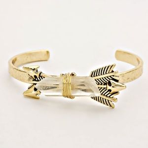 A Mermaid's Epiphany Jewelry - 🆕Raw Stone & Arrow Cuff Boho Bracelet